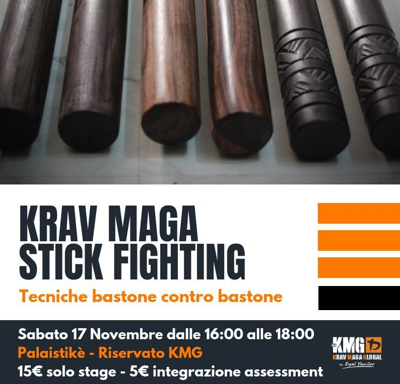 Krav Maga stick fighting. Utilizzo degli oggettiimprovvisati.